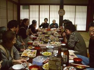 檀家さん達と昼食
